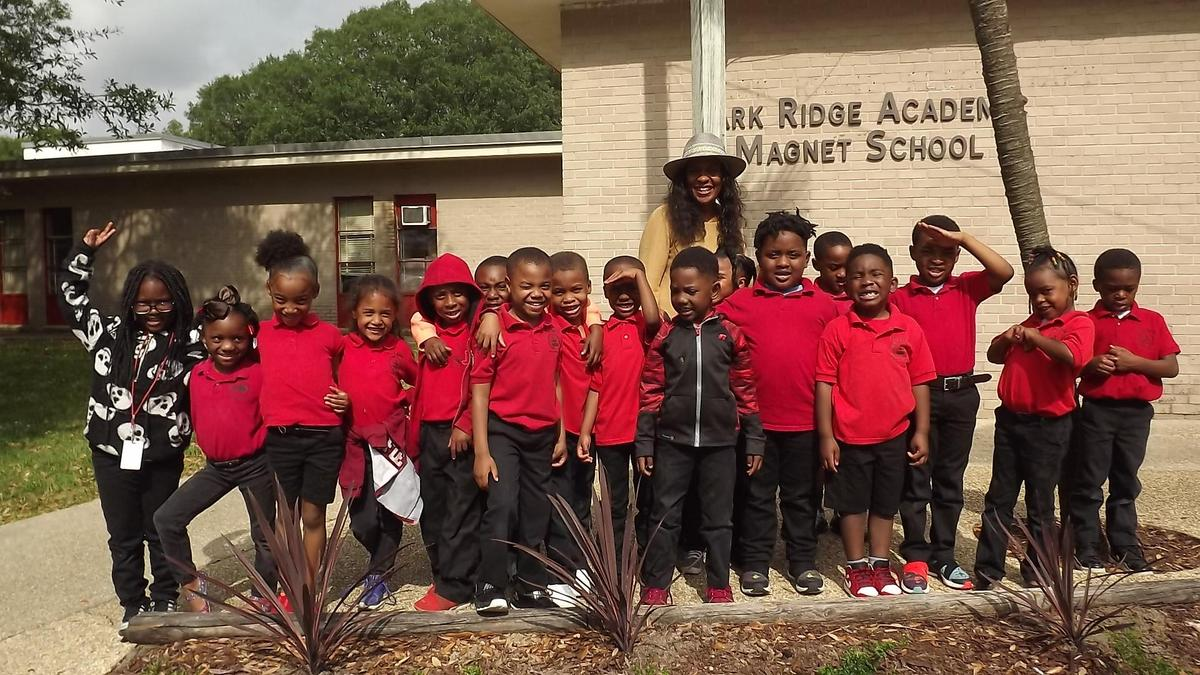 The 2019 Kindergarten Graduating Class at Park Ridge Academic Magnet School did their part to beauty the school by helping to spruce up the flower beds