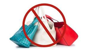 No bag policy image