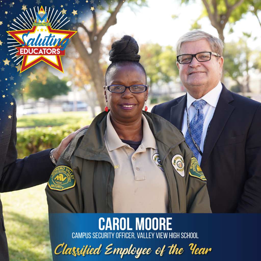 Carol Moore is the Classified Employee of the Year
