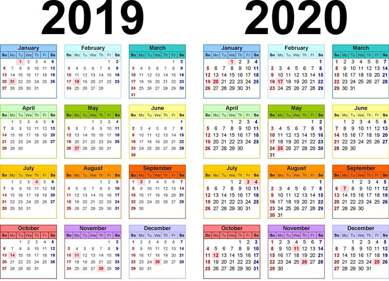 2019-20 Academic Year Calendar Featured Photo