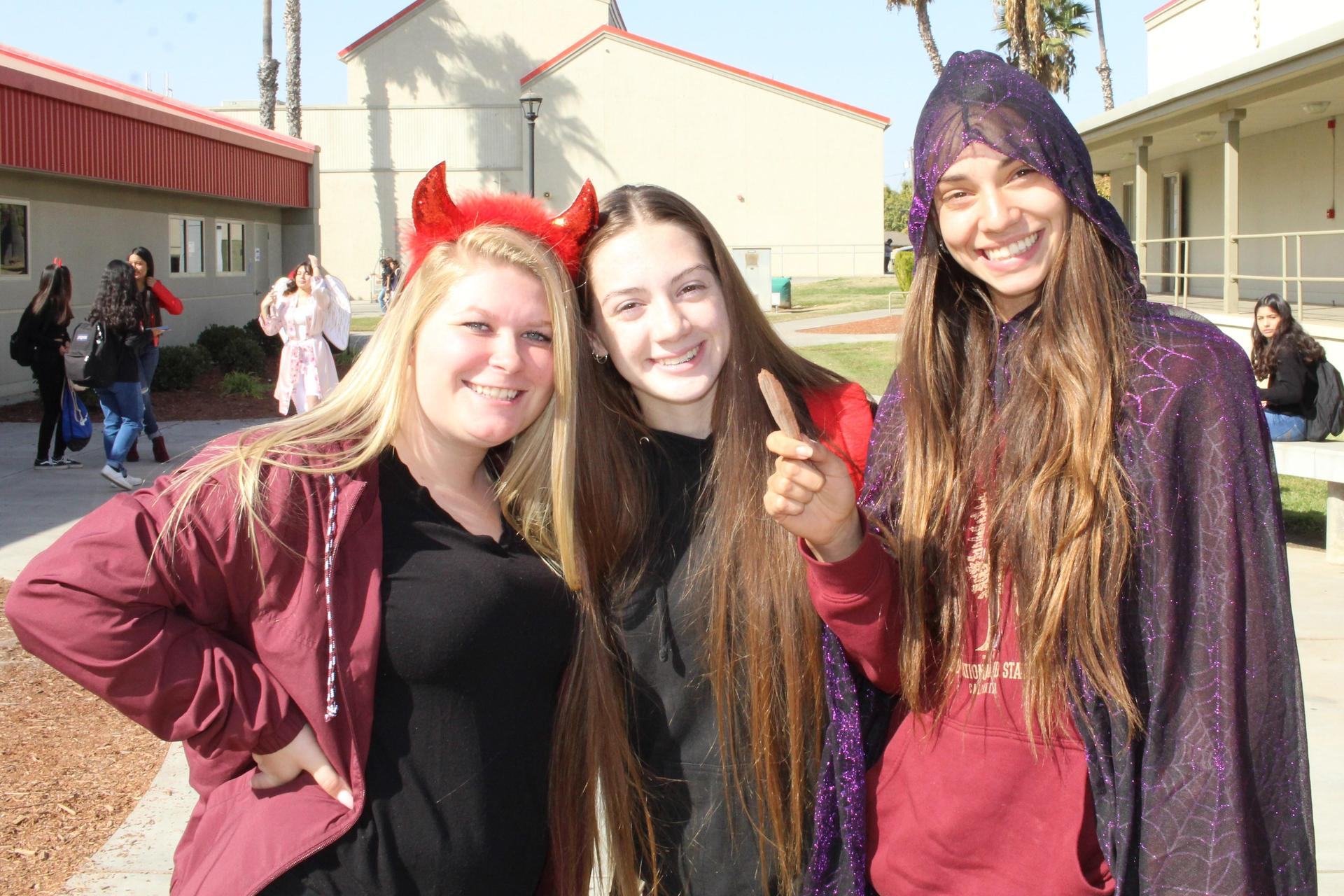 Checotah Hurt as the devil with Lilly sandlin and Josephine moore as a witch