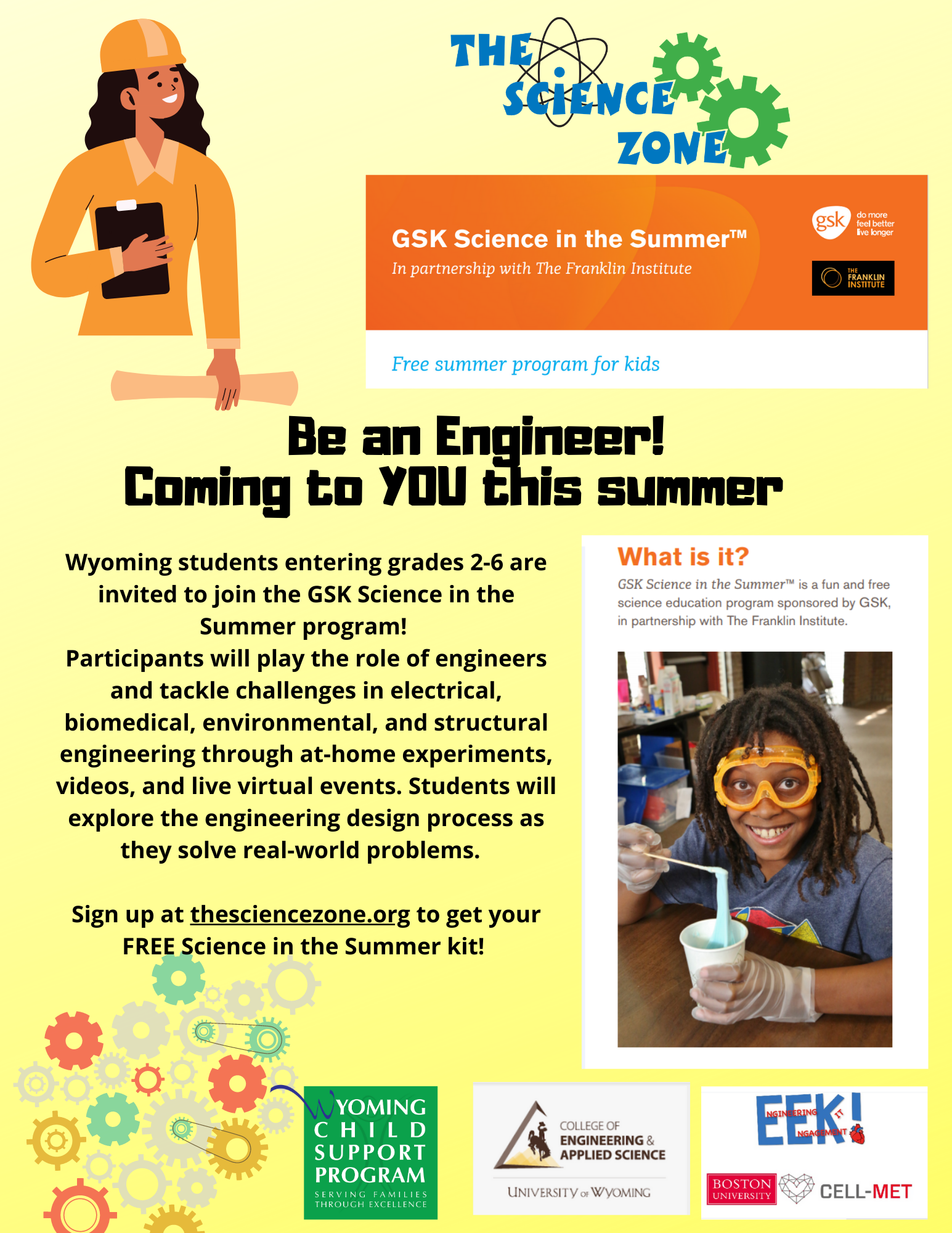 GSK Science in the Summer flyer