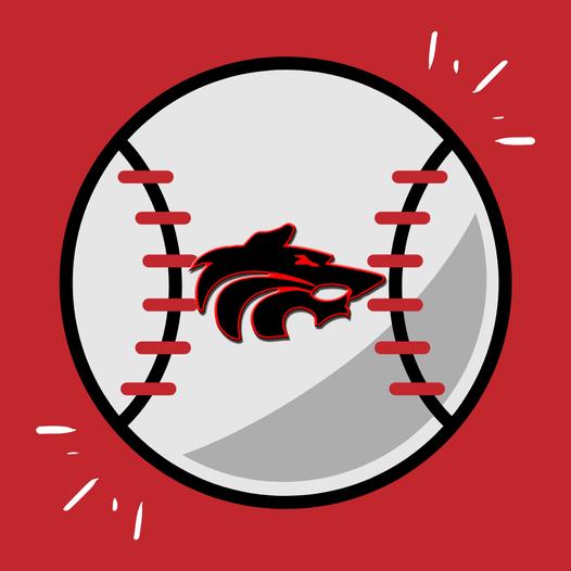 Wolf Logo on a Baseball