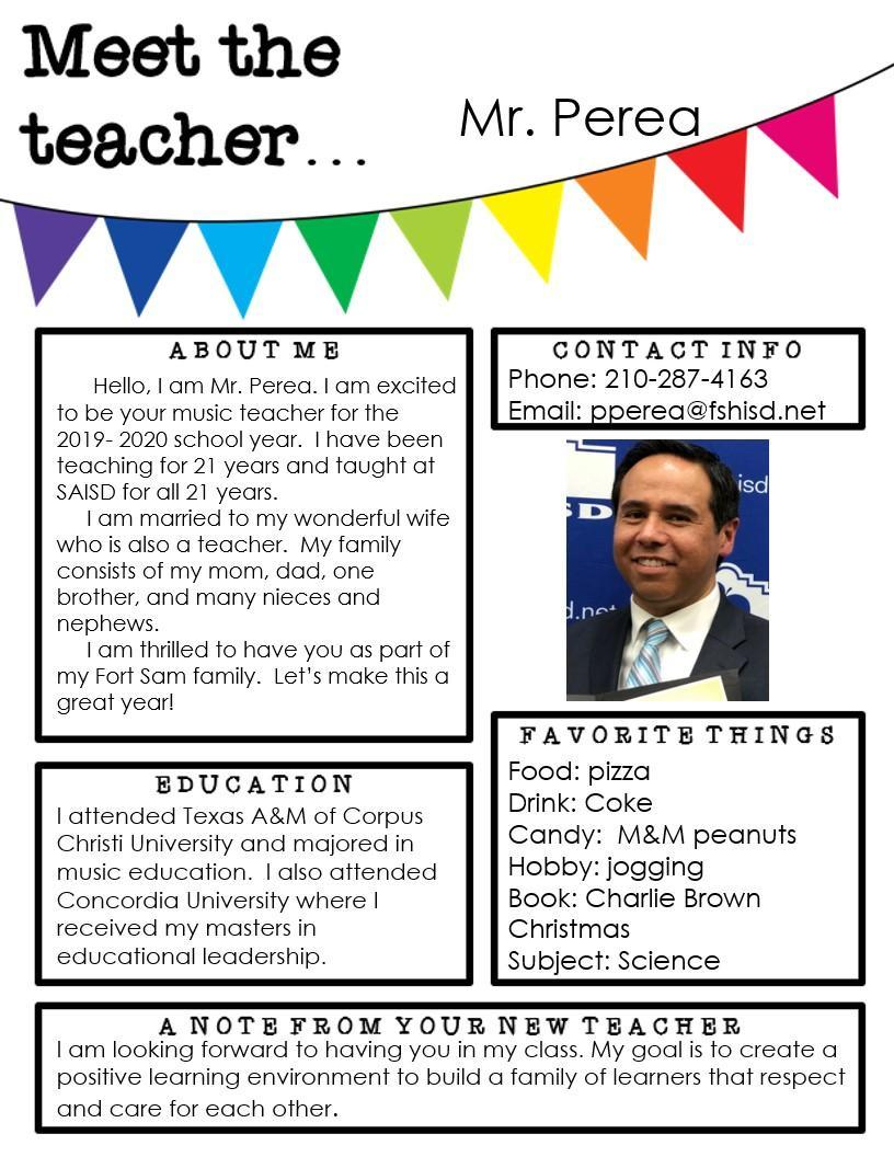 All about me the music teacher.