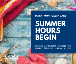 Summer Hours Begin