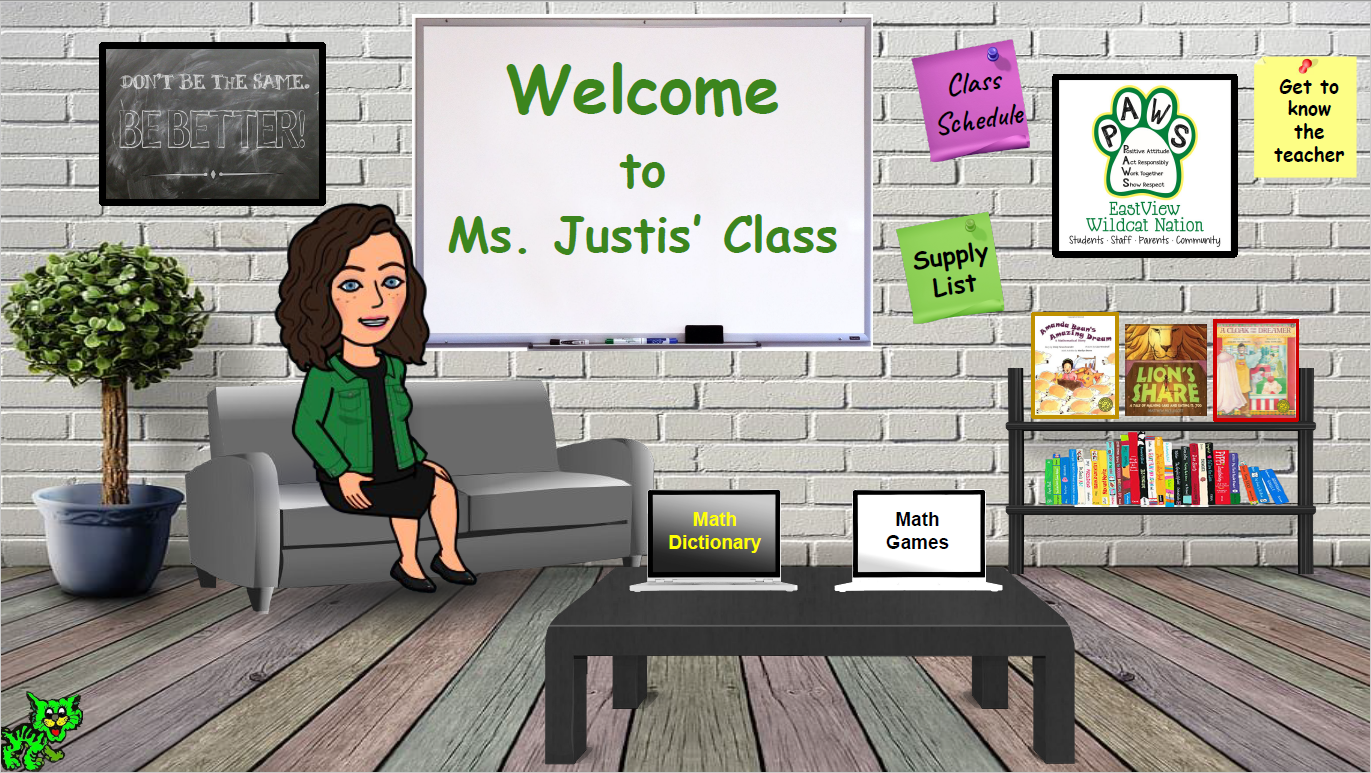 Click the link above to learn more about Ms. Justis' Classroom