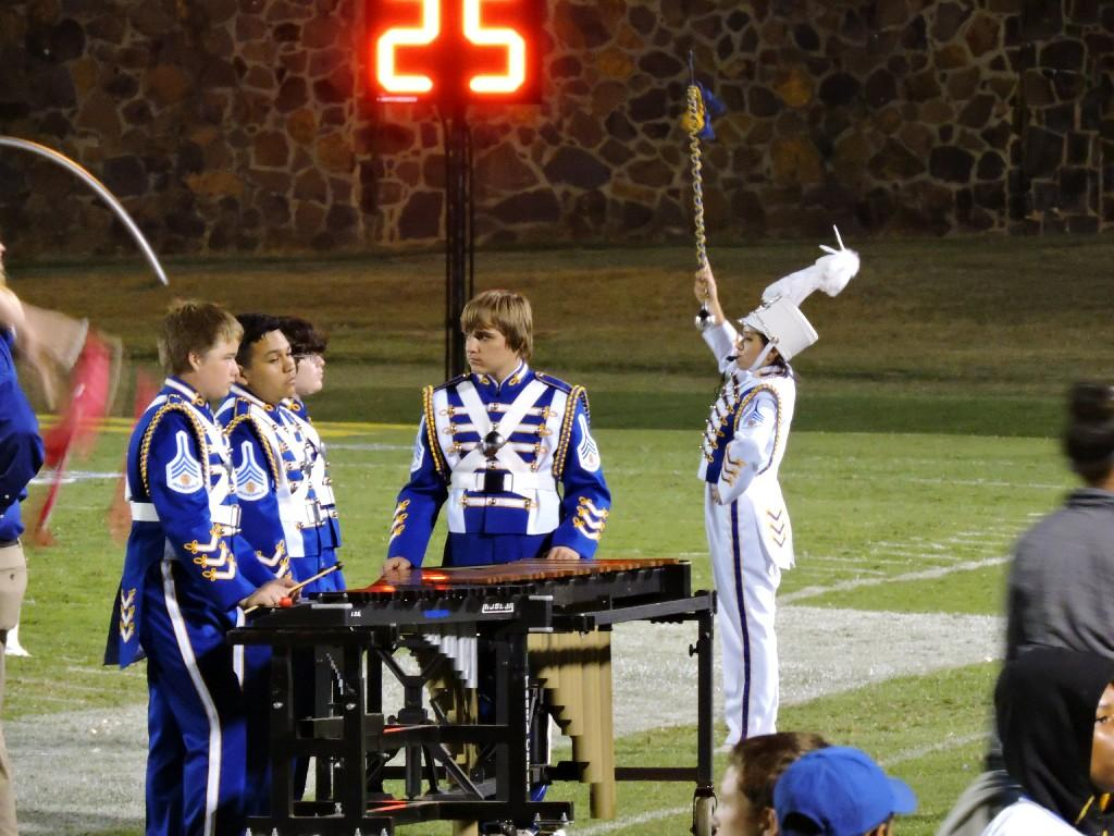 percussionist on sidelines