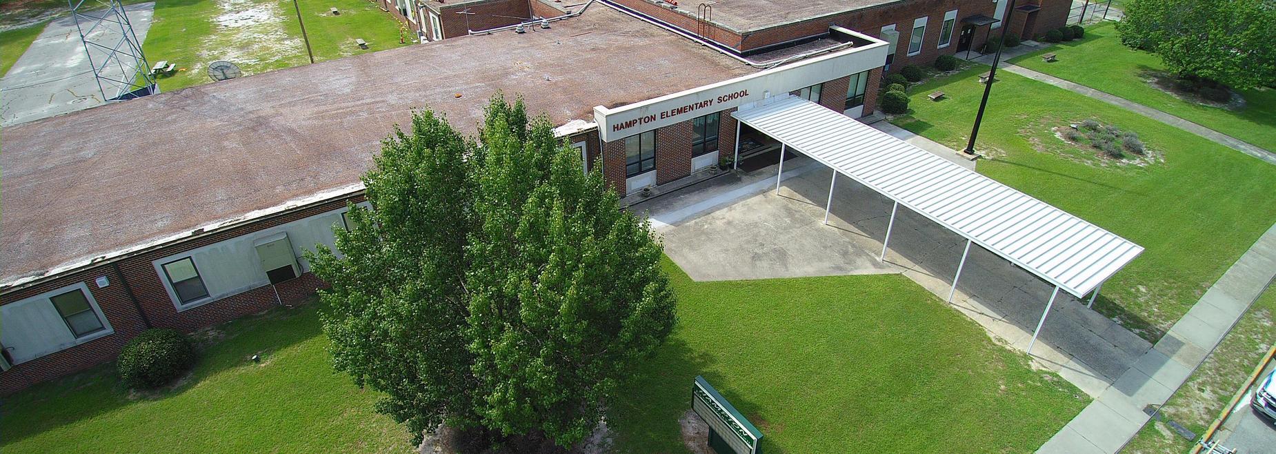 Aerial Hampton Elementary