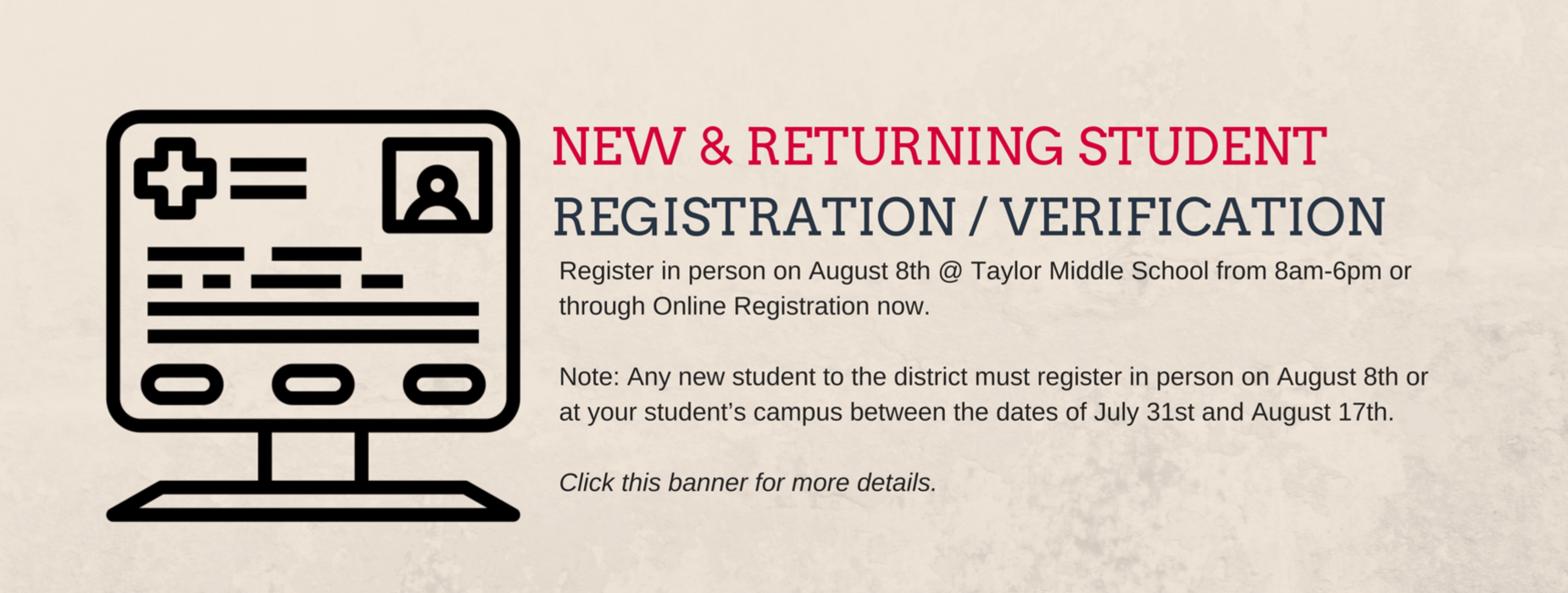 Registration/Verification Information