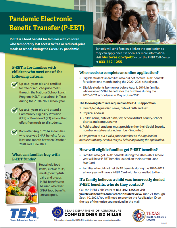 Pandemic Electronic Benefit Transfer Featured Photo