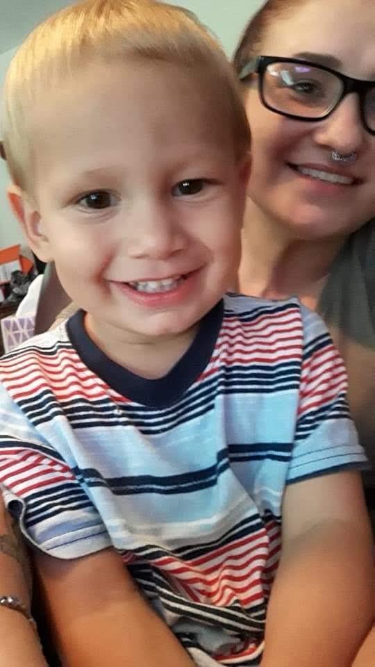 Nikoli with his mother Christina