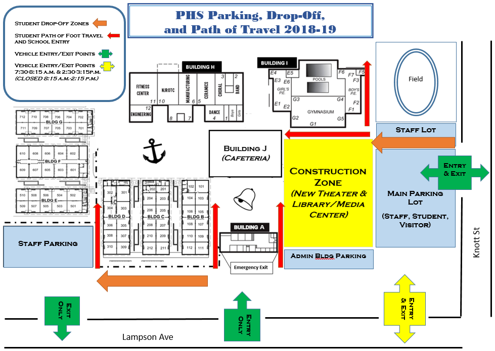 The New School Campus Map.Pacifica High School