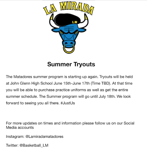 Summer Basketball Tryouts Featured Photo