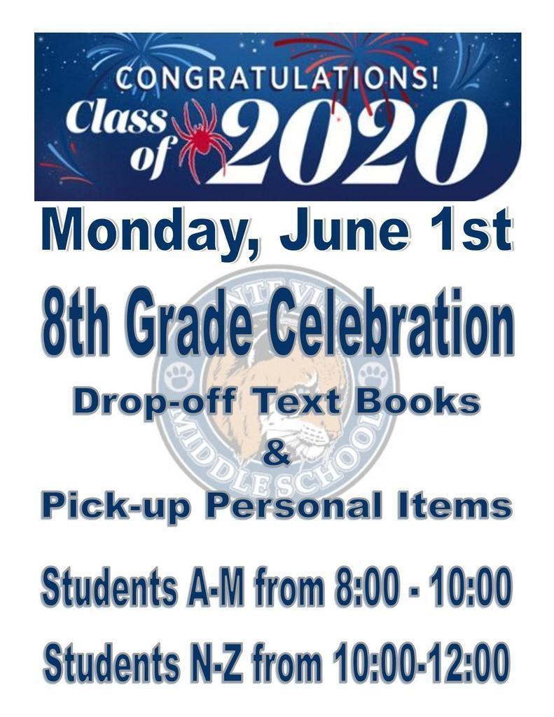 8th Grade Celebration June 1st