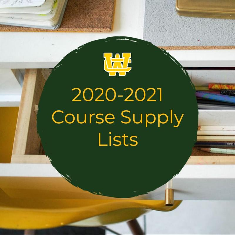 2020-2021 Course Supply List Thumbnail Image
