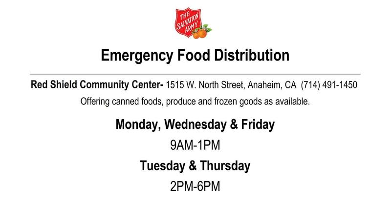 Emergency Food Distribution Information