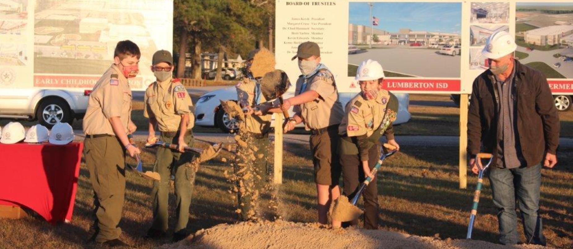 LISD Groundbreaking Ceremony - Scouts