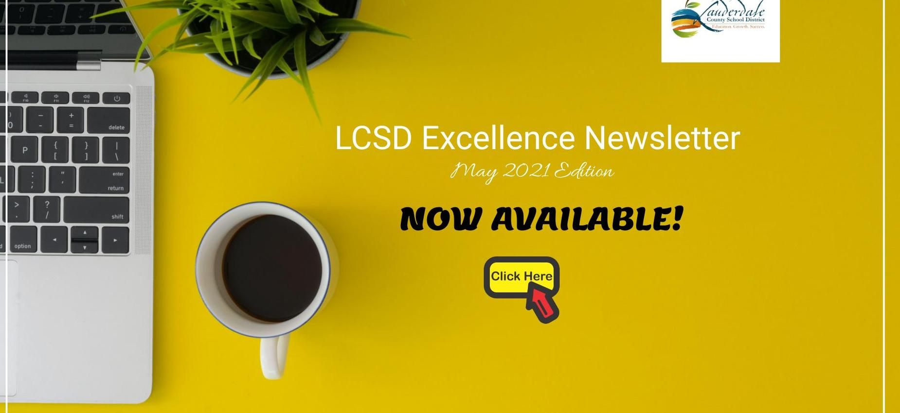 LCSD Excellence May Newsletter Graphic