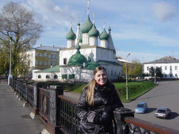 Mrs. Rosenberg in Yaroslav'l, Russia, in 2008