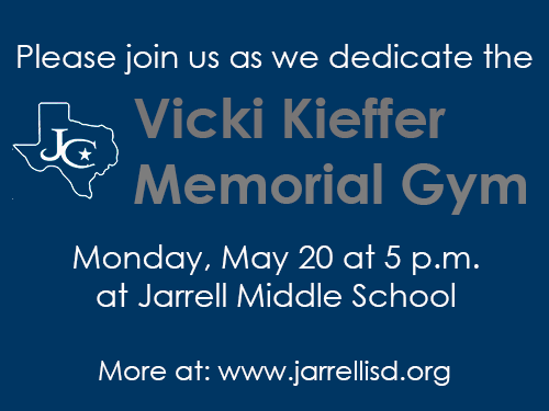Vicki Kieffer memorial gym dedication.