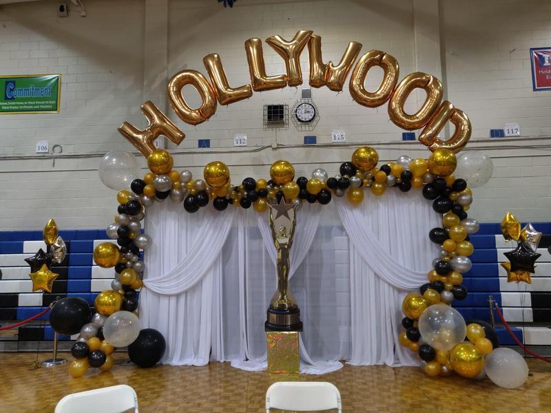 Hollywood Oscar theme decoration