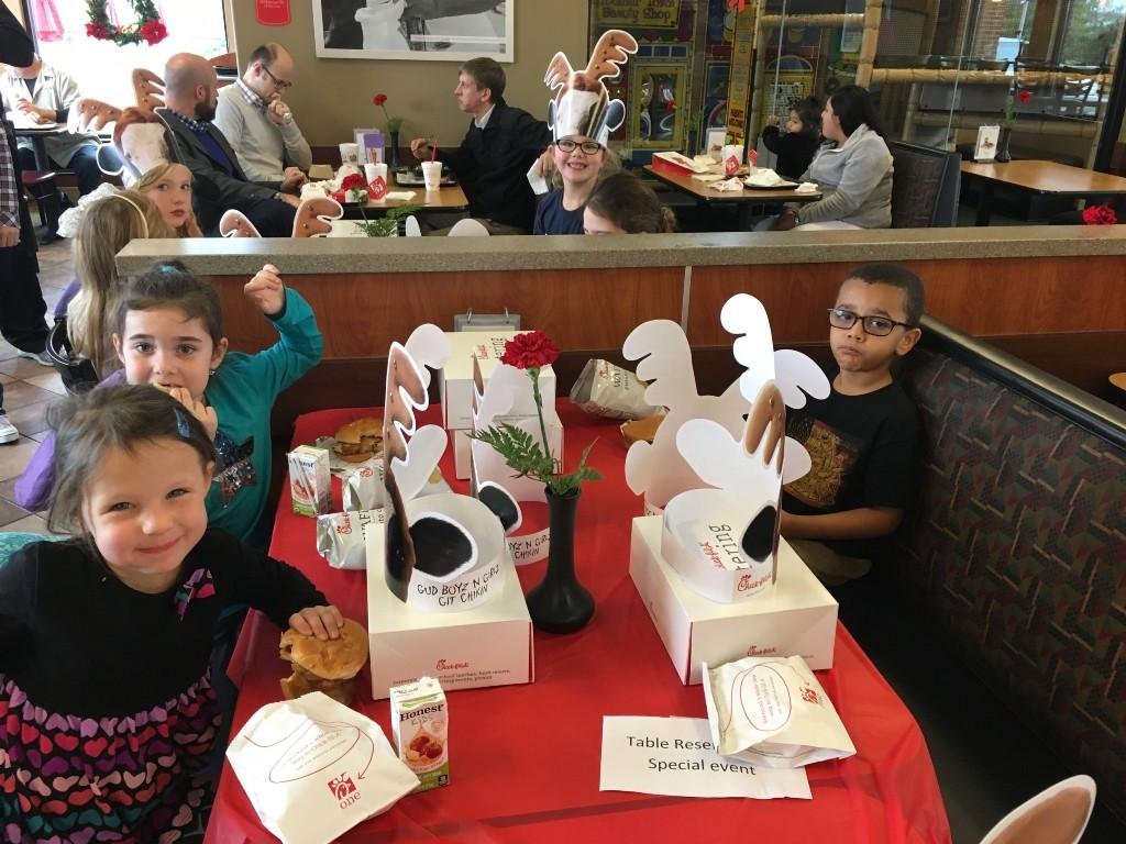 Fall Fundraiser limo ride to Chic-fil-a!