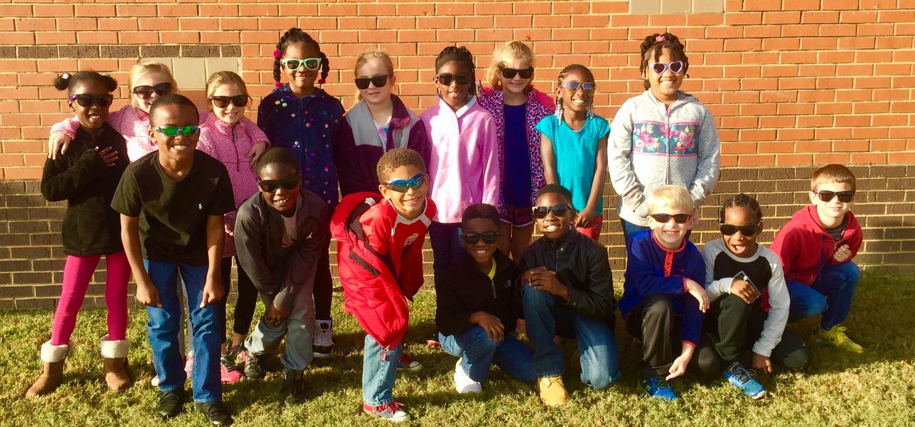 class in sunglasses