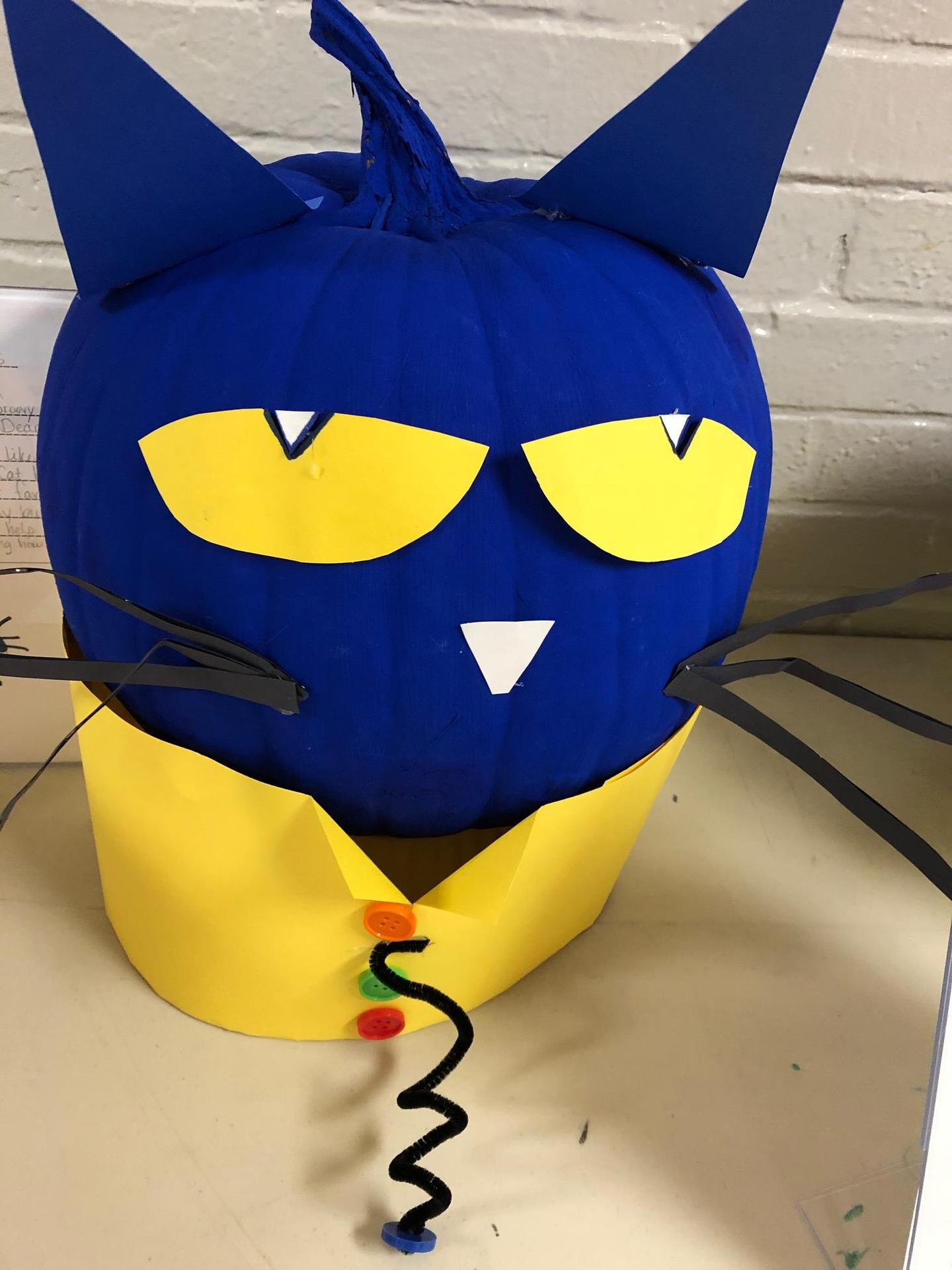 Pete the Cat pumpkin