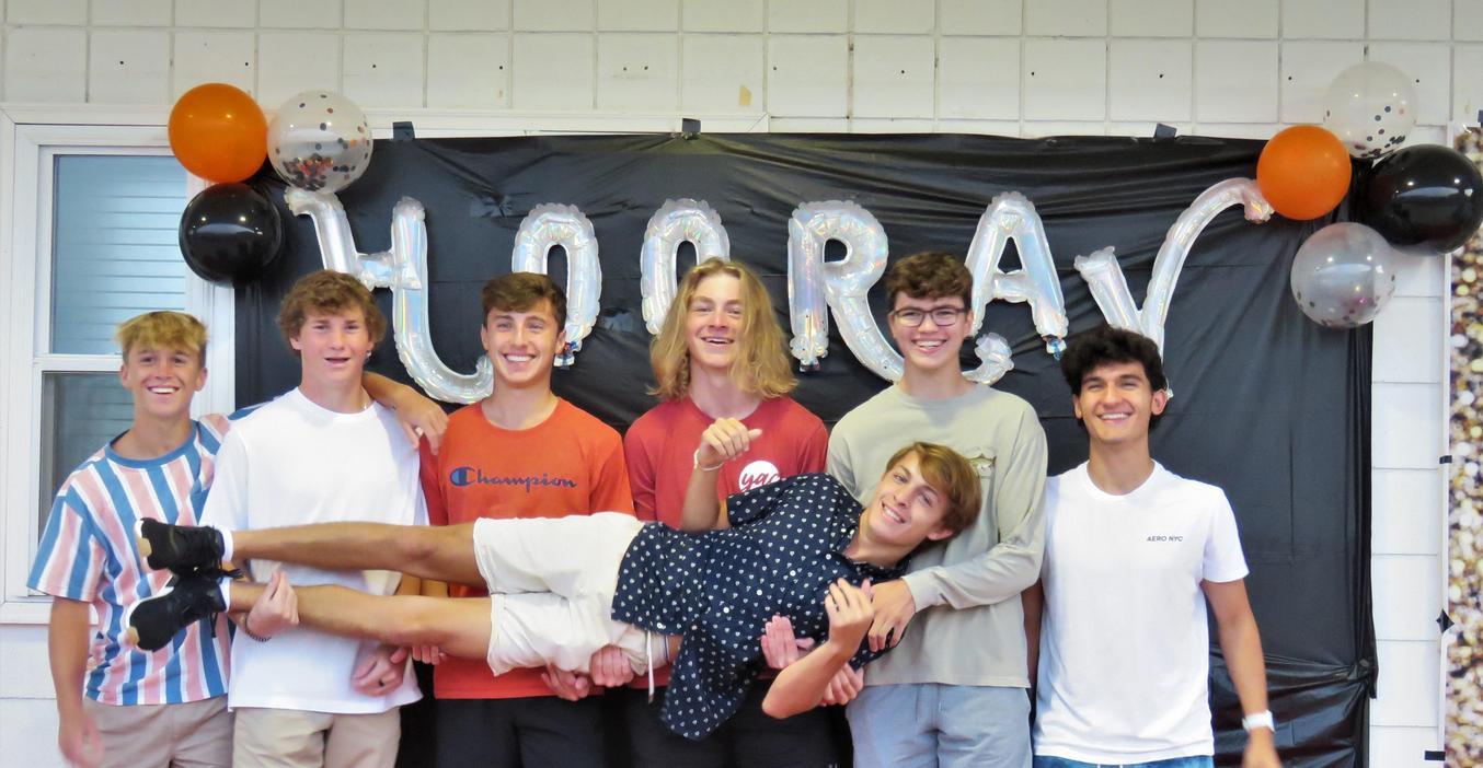 TKHS Seniors celebrate the start of their final year with fun senior photos.