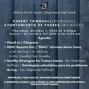 Parent Townhall: (OTTP) 10/01 at 6pm (Click here to view meeting) Thumbnail Image