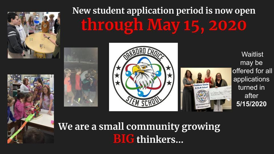 Application Window EXTENDED Now through May 15, 2020 Image