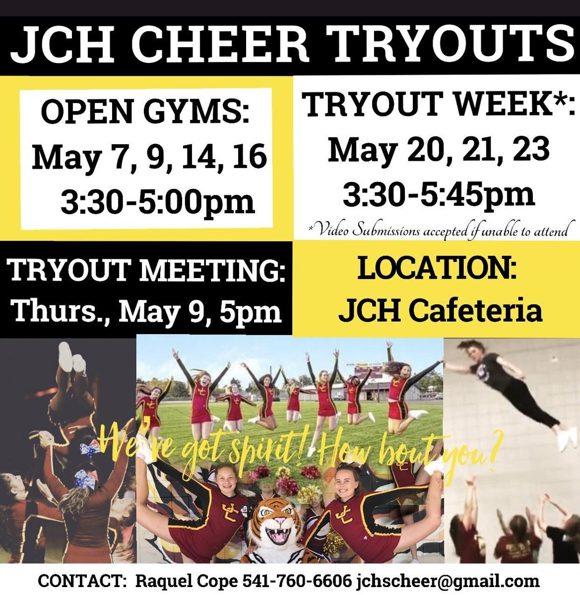 Cheer Tryouts 2019-20