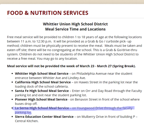 Free food will still be provided for anyone UNDER the age of 18 from 11-12:30 pm.