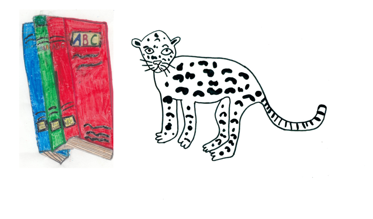 Books with Jaguars (Artwork by Emma Tyo)