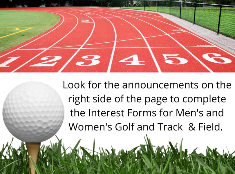 Golf and Track interest forms