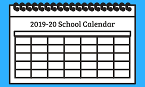 Picture of a calendar for 2019 2020