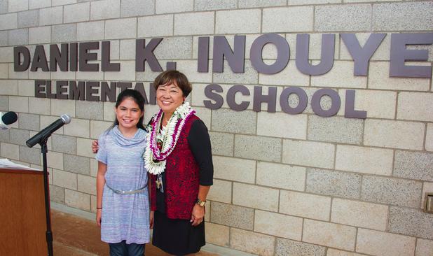 Principal Iwase and student