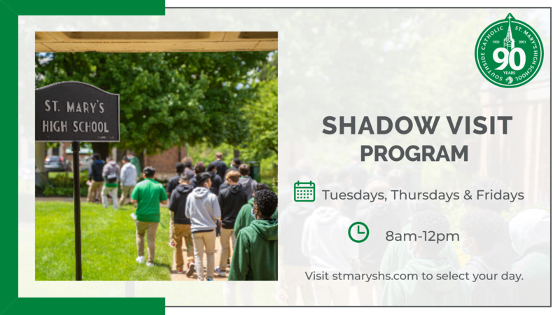 Schedule a Shadow Visit for your son TODAY!