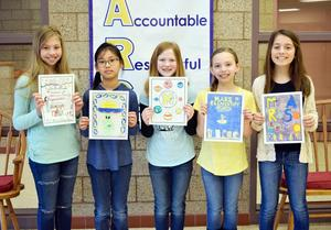 Mars Area Elementary School fourth-graders Anya Ignatuk, Mei Lein Mansfield, Alayna Renton, Myla Kay and Emilia Carrabba were selected as the winners of the school's 2018-2019 Yearbook Cover Contest.