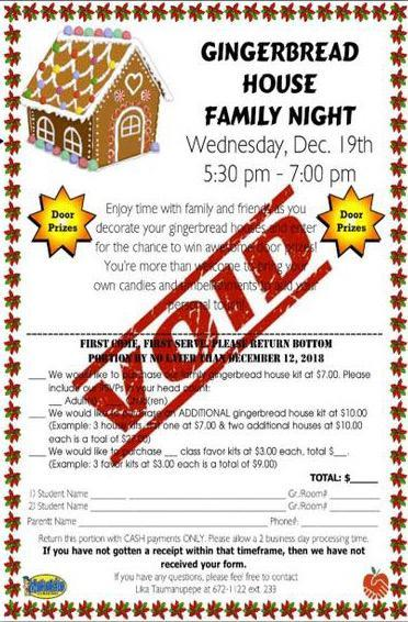 Gingerbread House Making Family Night, December 19, 2018 Featured Photo
