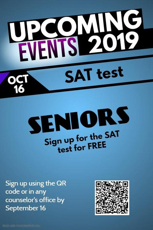 Seniors Sign up for the SAT test for Free Thumbnail Image