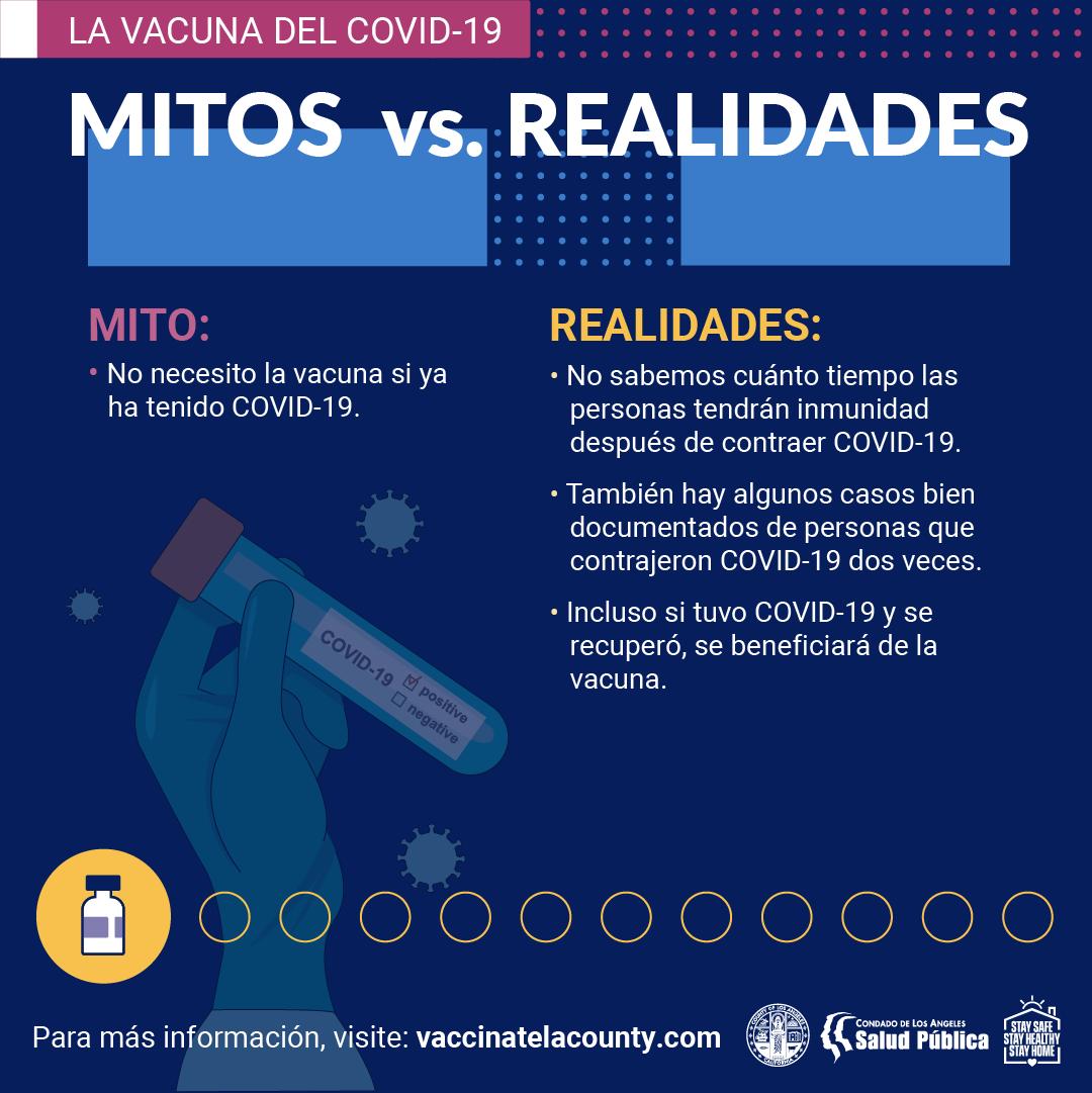 COVID-19 Vaccine Myth vs. Fact Sheet 2 (SPANISH)