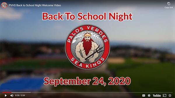 PVHS Back to School Night