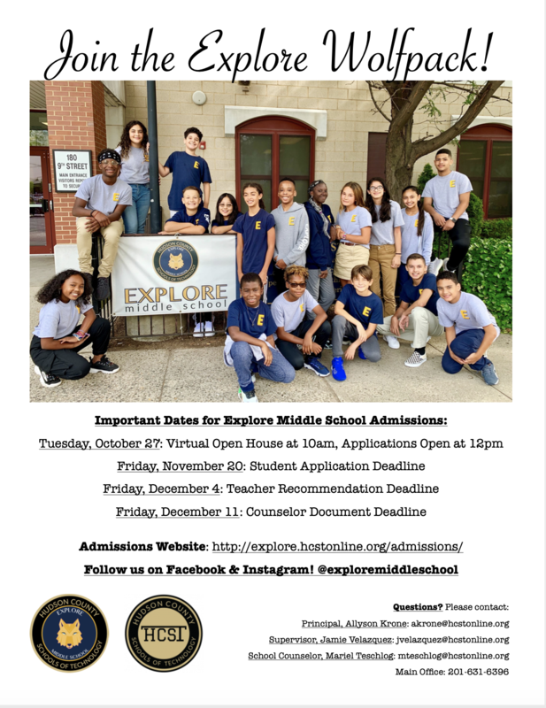 Explore Middle School Information Session
