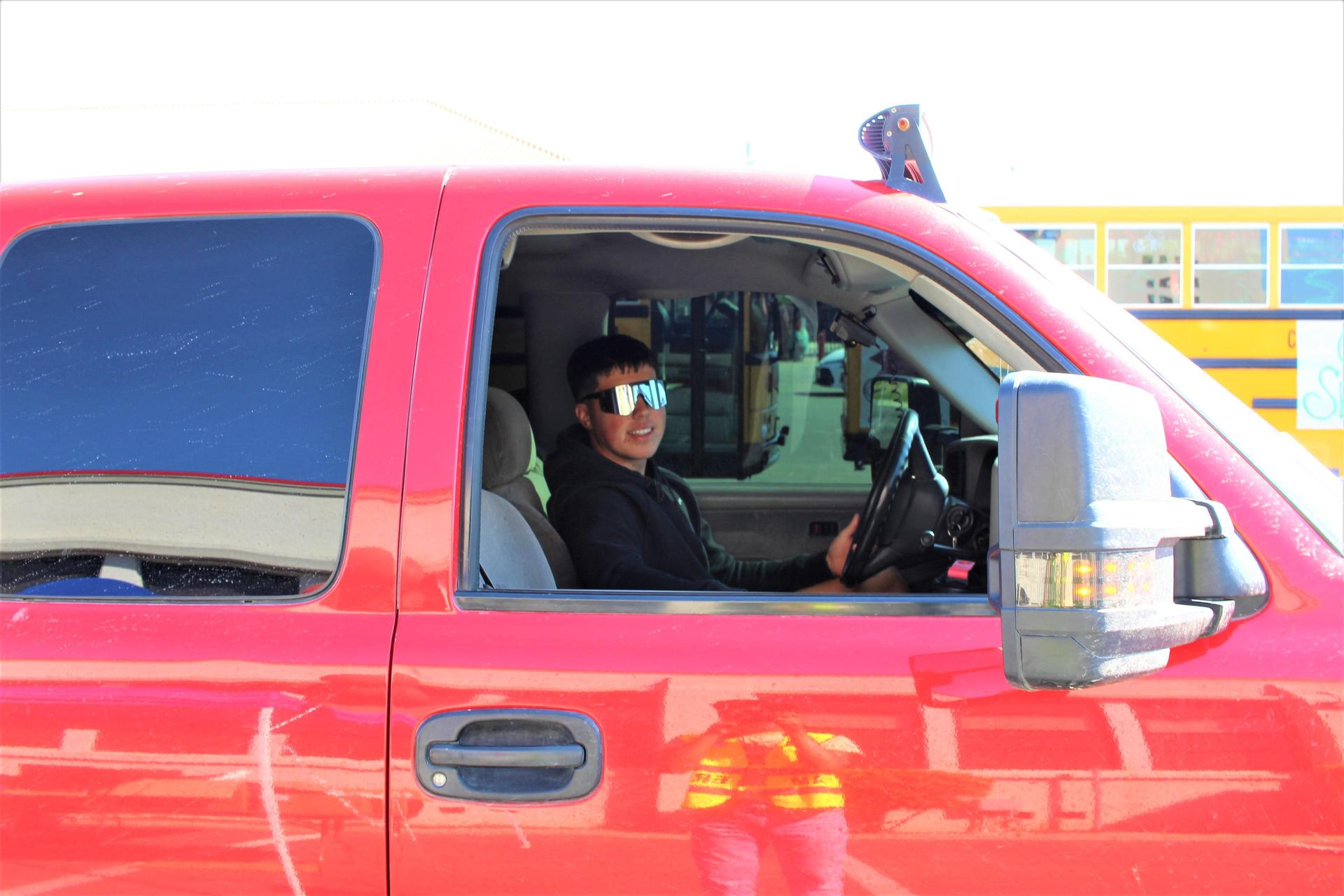 Roman Diaz driving through