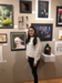 LHS Student with Art at Knoxville Museum