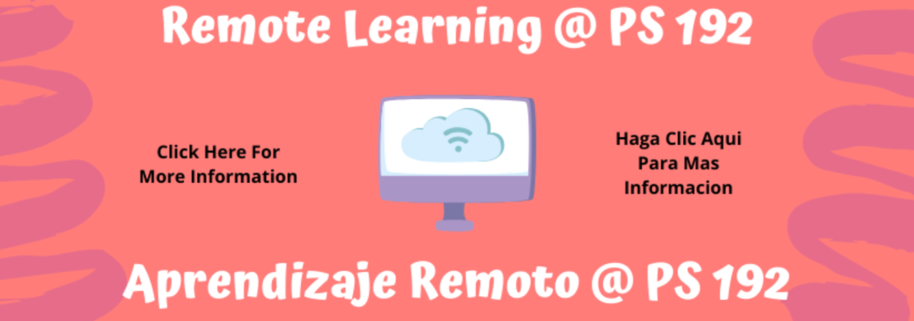 Remote Learning Banner English/Spanish