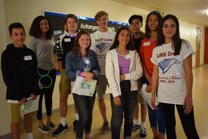 freshmen at first day of high school