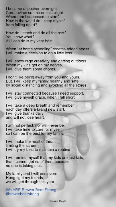We are Brewer Bear Strong Poem