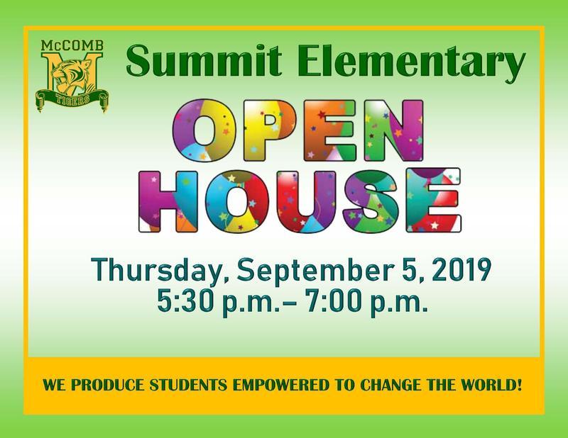 Summit Elementary Open House 2019